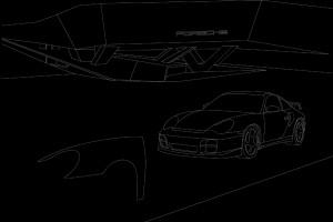 Entwurf zur Kotflügelanfertigung Porsche 911 GT