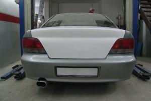 Mitsubishi Galant Heckklappe cleanen, verzinnen und für Lackierung vorbereiten